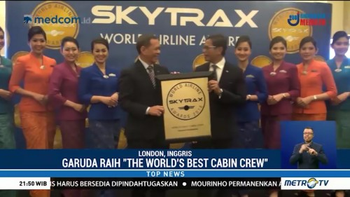 Garuda Indonesia Raih Penghargaan 'The World's Best Cabin Crew'