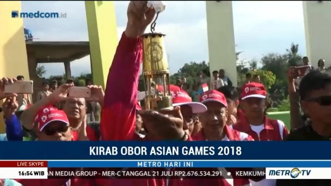 Api Obor Asian Games Tiba di Situbondo