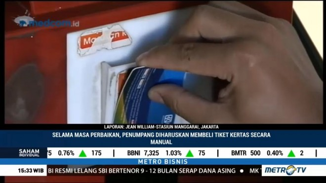 Sistem e-Ticketing KRL Kembali Normal