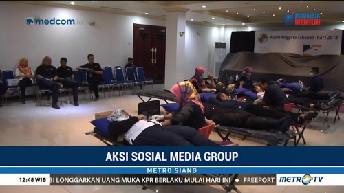 Metro TV Rutin Adakan Program Donor Darah