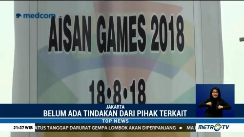 Viral, Spanduk Asian Games Salah Tulis