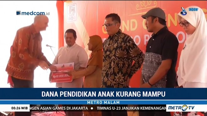 Kick Andy Foundation-Superindo Beri Dana Bantuan Pendidikan