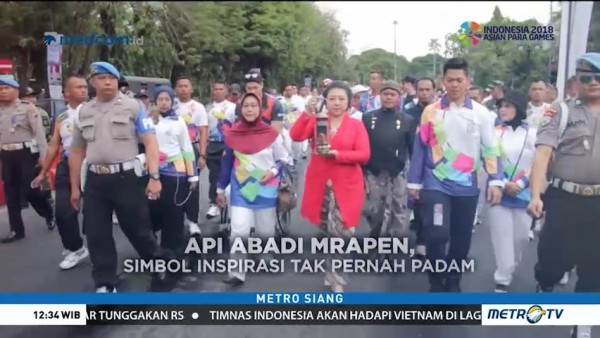 Rute Kirab Obor Asian Para Games 2018
