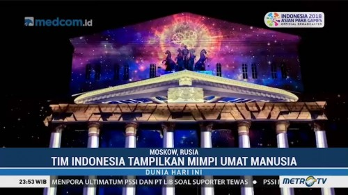 Indonesia Juara 3 Video Mapping di Rusia