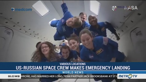 US-Russian Space Crew Makes Emergency Landing