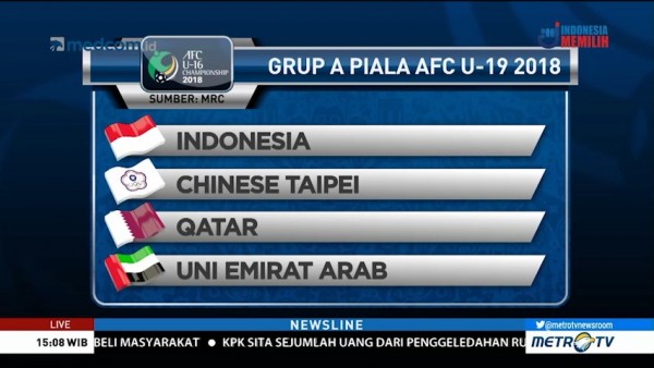 Preview Piala AFC U-19: Indonesia vs Chinese Taipei