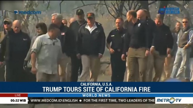 Trump Tours Site of California Fire