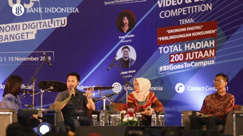 BI Goes To Campus 2018 Palembang Dipadati Calon Pelaku Ekonomi Digital