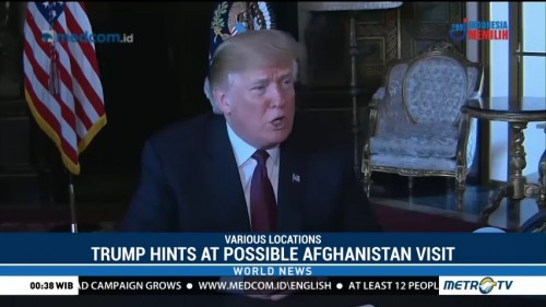 Trump Hints at Possibility of a Visit to Afghanistan