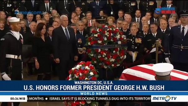 US Honors Former President Gorge H.W. Bush in Washington