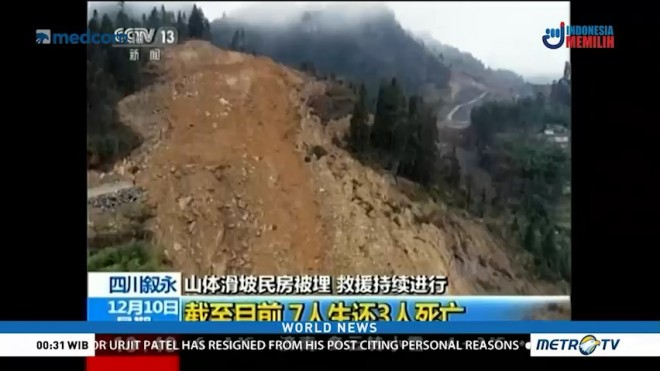 Rescue Efforts on After Landslide in China