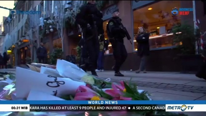 Tributes Left to Victims of Strasbourg Attack