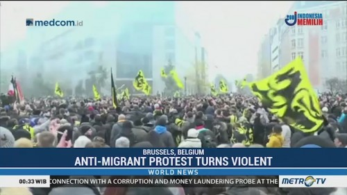 Anti-Migrant Protest in Belgium Turns Violent