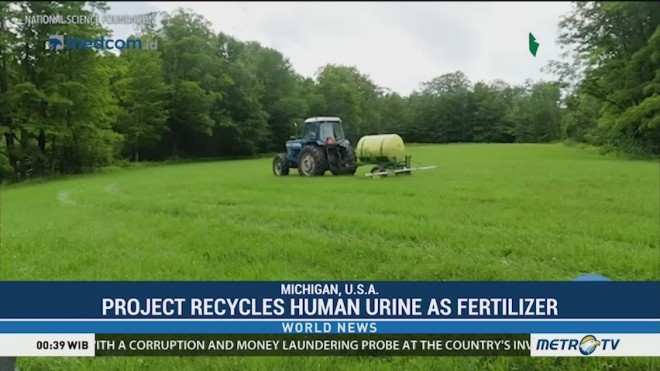 Project Recycles Human Urine as Fertilizer