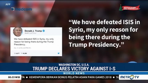Trump Declares Victory Against Islamic State