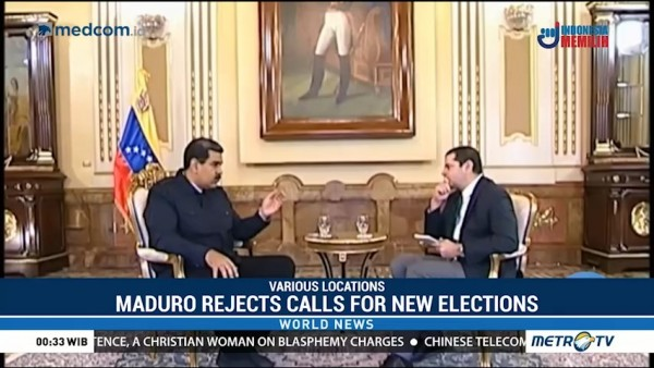 Maduro Rejects Calls for New Elections