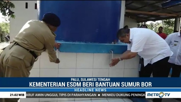 Kementerian ESDM Beri Bantuan Sumur Bor untuk Korban Gempa Sulteng