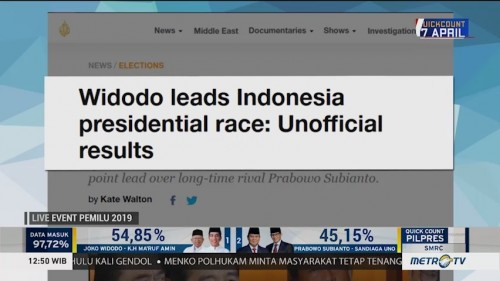 Media Asing Soroti Pemilu Indonesia