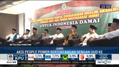 Ulama Jambi Tolak Aksi <i>People Power</i>