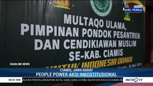 Multaqo Ulama Ciamis Tolak Aksi <i>People Power</i>