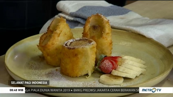 Resep Chocolate Banana Tortilla