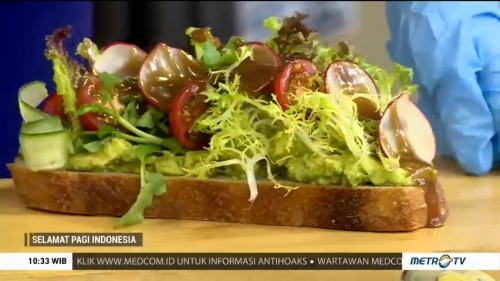 Resep Open Sandwich Avocado & Tomato