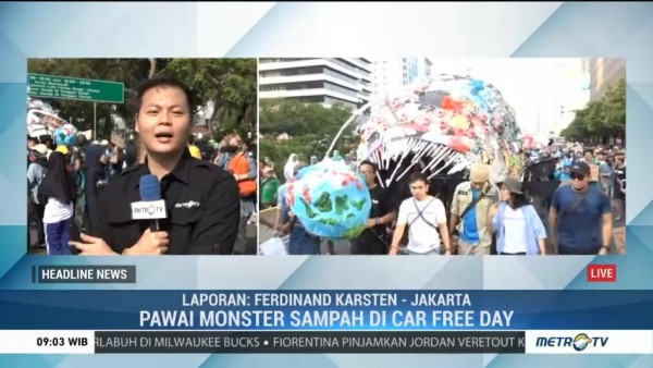 Ada 'Monster Sampah' di CFD Bundaran HI