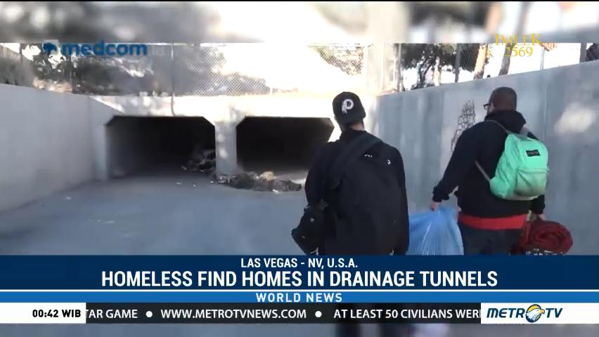 Las Vegas Homeless Find Homes di Drainage Tunnels