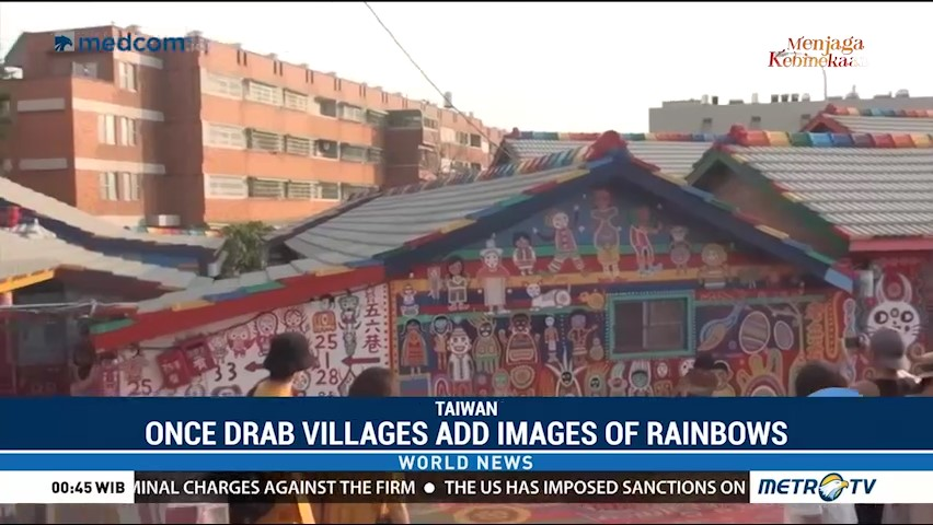 Once Drab Villages Add Images of Rainbows